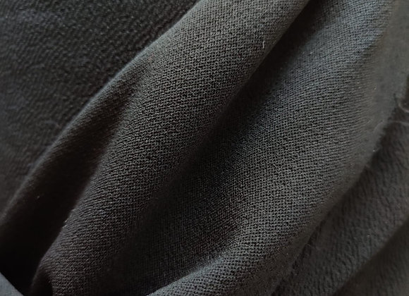 Black Crepe Look Jersey Ponteroma