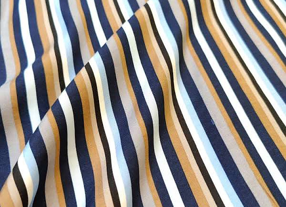 Striped Satin Backed Viscose