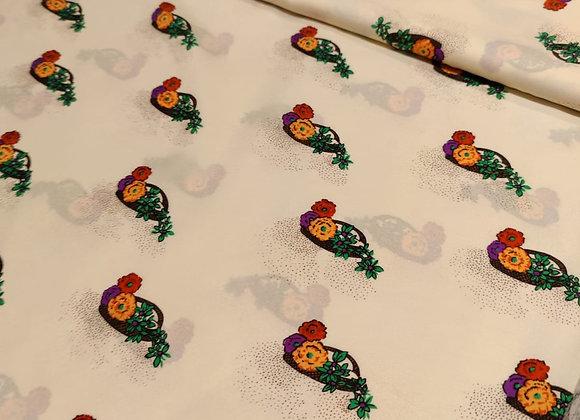 Floral Print PolyCrepe