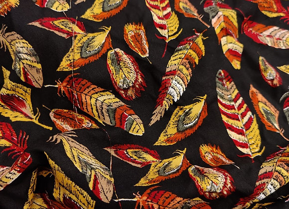 Black feather Viscose 3 Metre Piece