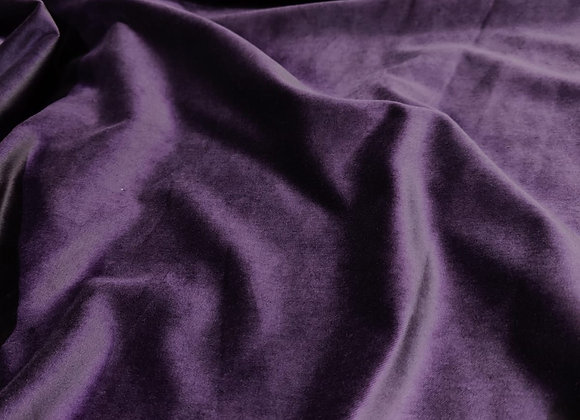 Dark Plum Cotton Velvet