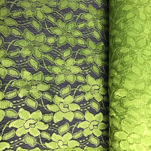 Lime Green Floral Lace