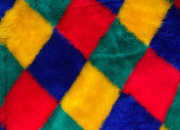 Diamond Multicoloured Short Fur