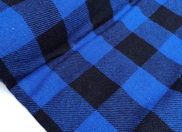 Cobalt Blue Check 100% Wool