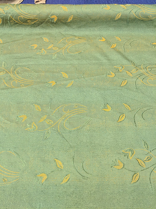 Green & Yellow Shiny Polyester Upholstery