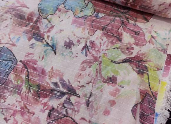 Floral Poly Viscose -  3 metre piece