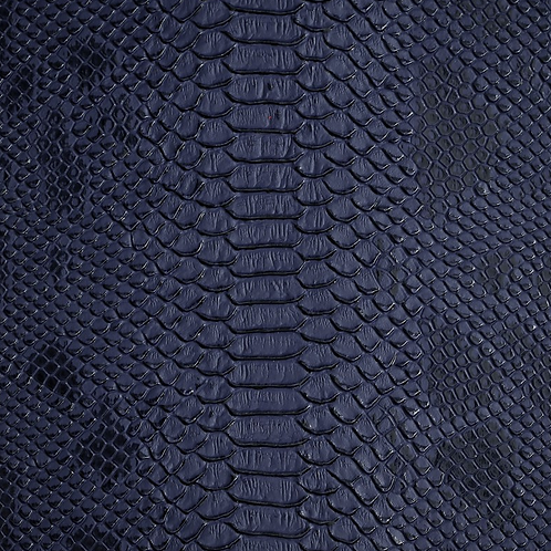 Navy Blue Lizard Print Leather
