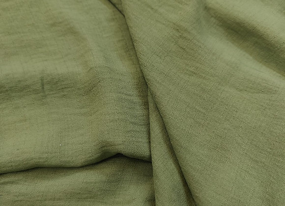 Green Linen Look Poly Fabric