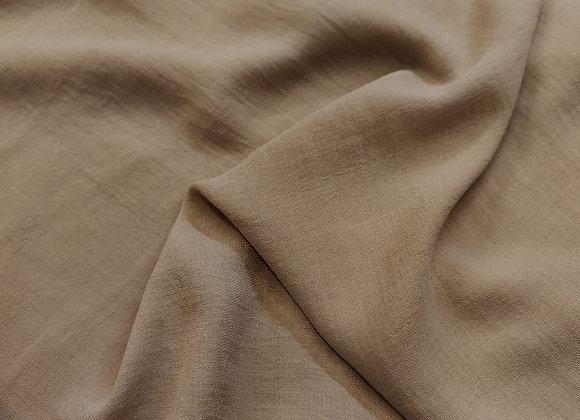 Beige Linen Look Poly Fabric