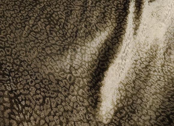 Khaki Leopard Cotton Velvet