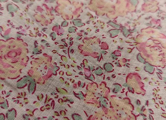 Pink/Peach Floral Lightweight Cotton