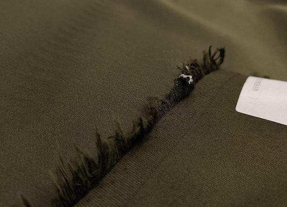 Dark Khaki Brushed Cotton Twill