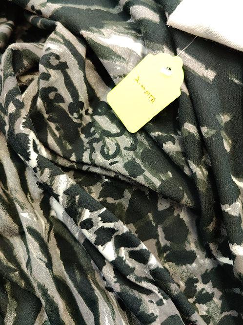 Grey Leopard Loopback Jersey - 2 metres