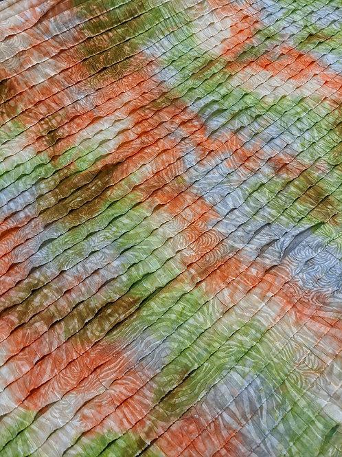 Orange/Green Tie-Dye Ruffle Jersey