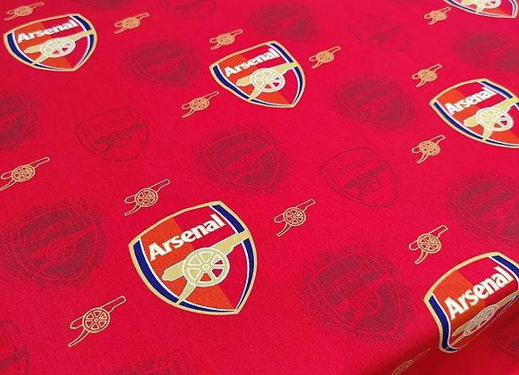 Arsenal Football Fabric - 100% Cotton