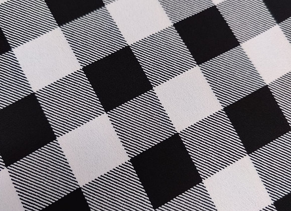 Big Gingham Poly Crepe - 3 metre piece