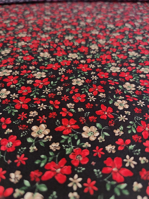 Red Floral Viscose Belmando Twill