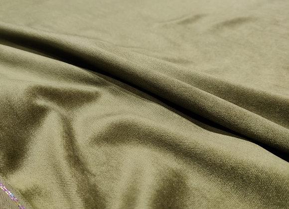 Khaki Olive Green Cotton Velvet