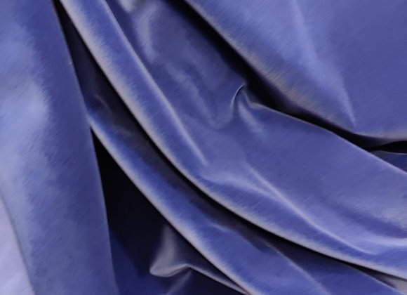 Blue Cotton Velvet