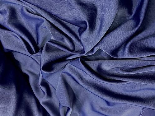 Midnight Blue Textured Crepe