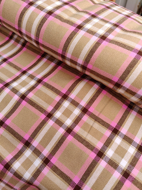 Beige/Pink Poly-Wool