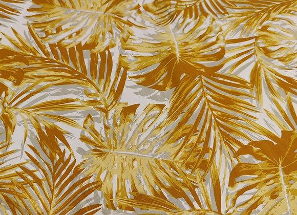 Mustard Palm Viscose Challis