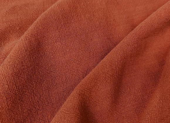 Rust Viscose Linen