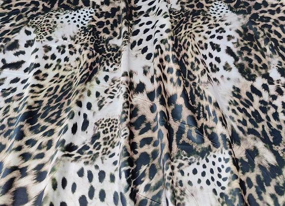 Leopard Print Satin - 3 metre piece