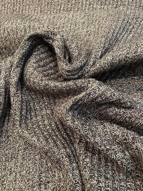 Grey Marl Ribbed Wool