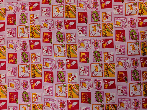Pink Picture Fabric