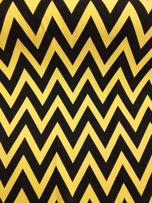 Yellow & Black ZigZag Fleece