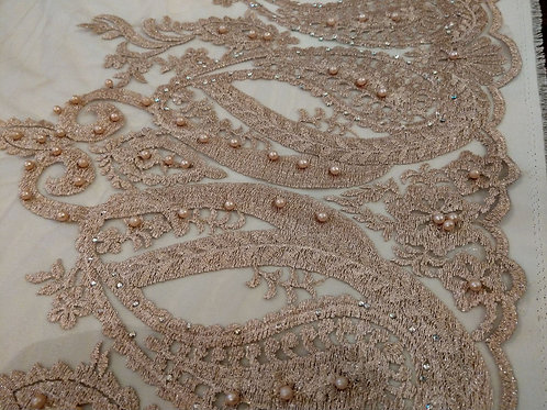 Gold Soft Net - Embrodery & Pearls Collection