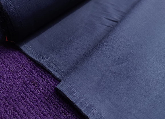 Blue Brushed Cotton Twill (Lightweight)