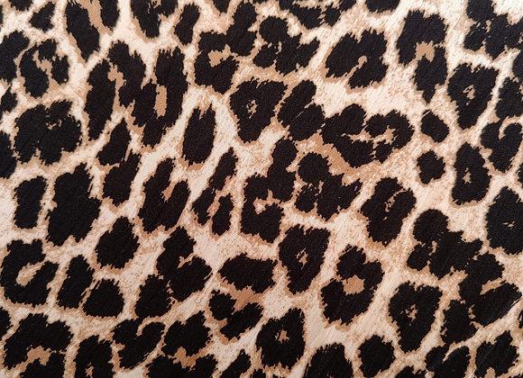 Leopard Crinkled Viscose