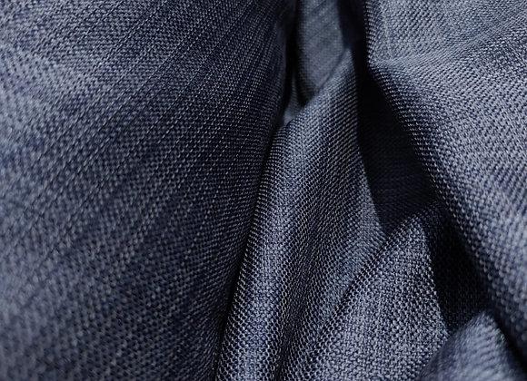 Blue/Denim Linen Look Upholstery Fabric