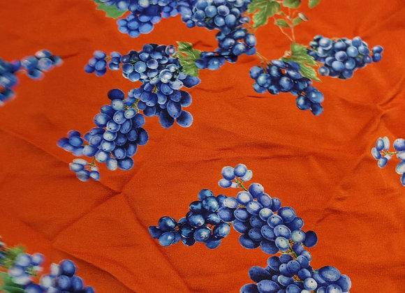 Orange and Grape viscose Marocaine - 1.5m piece