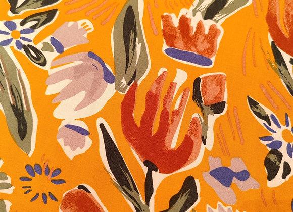 Watercolour Tulip Print Viscose