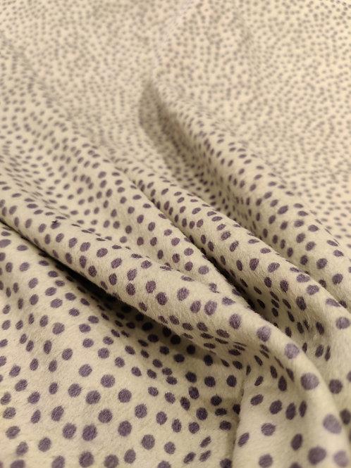 Light Pistachio/Indigo Polka Dot Wool Blend