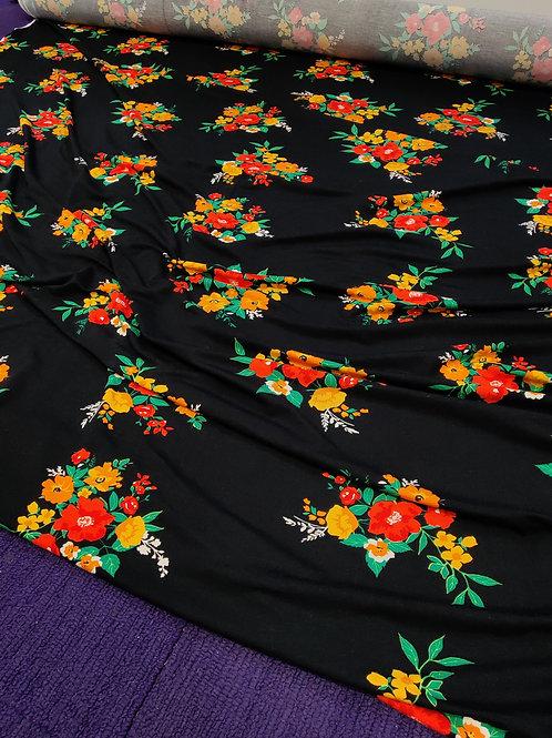 Floral Bouquet Viscose Jersey