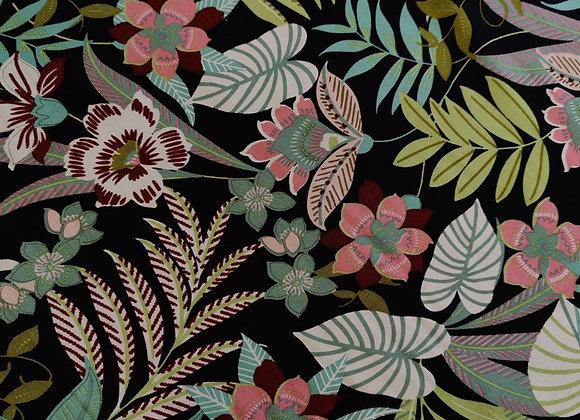 Tropical Floral Viscose Challis