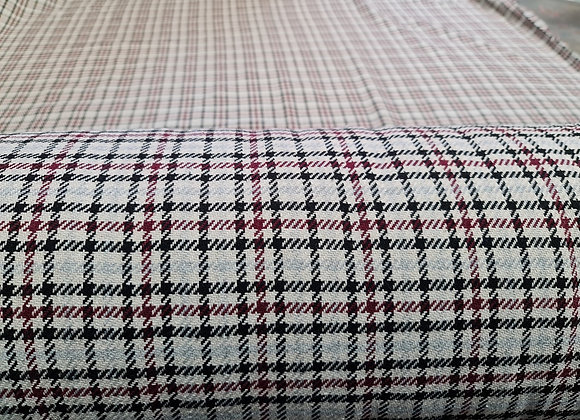 Small Checked Tartan Cotton Wool - 3 metre piece