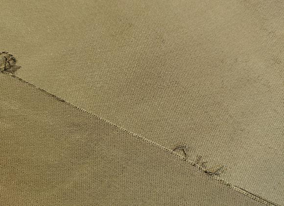 Khaki Brushed Cotton Twill