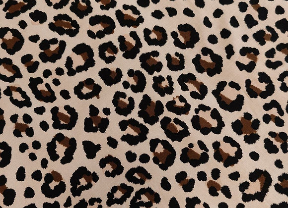 Leopard Viscose Challis stretch