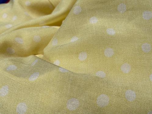 Yellow Irregular Polka Dot