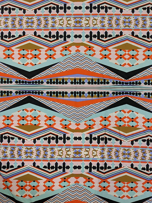 Abstract orange 4-way stretch - Swimwear/Activewear