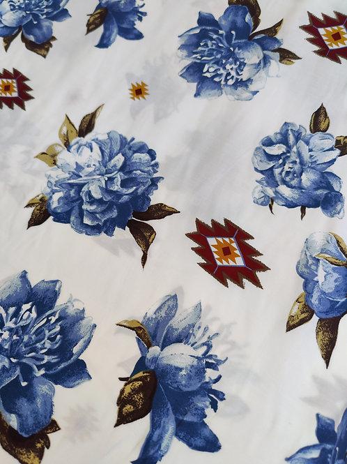 Floral Peachskin - 3 metres