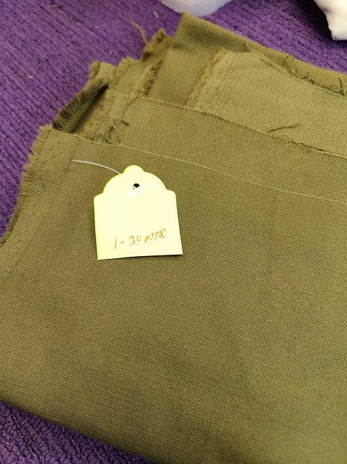Khaki Brushed Cotton Twill - 1.3 metres