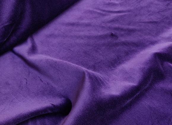 Purple Cotton Velvet