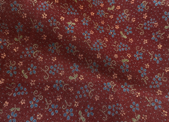 Maroon Vintage 100% Cotton - 3 metre piece