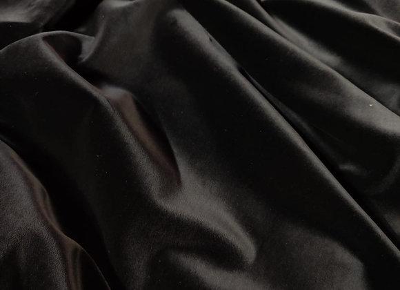Black Cotton Velvet